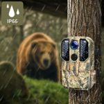Campark WiFi Trail Camera 20MP 1296P Hunting Game Camera and Solar Panel Bundle
