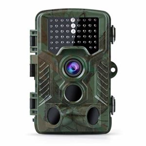 Coolife Trail Game Camera with 32GB Card, 16MP 1080P Hunting Wildlife Camera with 3 Infrared Sensors 49Pcs IR LEDs Night Vision 0.2S Motion Activated IP67 Waterproof 2.4″ LCD