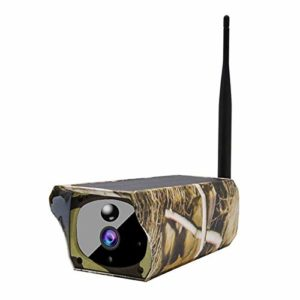 Gaoominy Solar Powered 1080P Trail Game Camera, Ip65 Waterproof WiFi Hunting Camera 850Nm Infrared Night-Vision Motion Activated Sensor Wildlife Camera