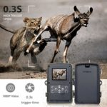 KINGELE 4G LTE Trail Camera 16MP FHD 1080P IP66 Waterproof Hunting Scouting Cam for Wildlife Monitoring 80ft 0.3s Trigger Time with 120°Detecting 36PCS 940nm IR LEDs Night Vision 2.4-inch (5-Pack)