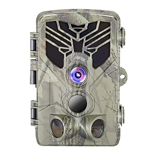 okuya Game Camera, Trail Camera Waterproof 16MP 1080P Game Hunting Scouting Cam with 3 Infrared Sensors for Wildlife Monitoring, Hunting Cameras with Night Vision Motion Activated