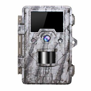 OUDMON Trail Game Camera 16MP 1080p 30fps FHD IP67 Waterproof Wildlife Scouting Hunting Cam with 940nm 48Pcs No Glow IR LEDs Motion Activated Night Vision 2.4″ LCD