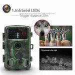 Rsiosle Wildlife Trail Camera HD 1080P 12MP Trail Game Camera Remote Monitoring Night Vision Motion Detection Ultra Long Standby IP56 Waterproof
