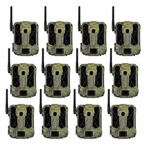 SPYPOINT LINK-DARK 12MP No Glow Invisible Infrared Nationwide 4G LTE Cellular Video Hunting Game Trail Camera with 0.07s Trigger, 100-Foot Detection & LINK App Capability (12 Pack)