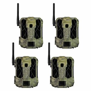 SPYPOINT LINK-DARK 12MP No Glow Invisible Infrared Nationwide 4G LTE Cellular Video Hunting Game Trail Camera with 0.07s Trigger, 100-Foot Detection & LINK App Capability (4 Pack)