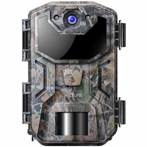 Victure Game Camera 14MP 1080HD Trail Cam Night Vision Motion Activated with Upgrade Waterproof Design 38Pcs IR LEDs No Glow for Wildlife Hunting and Surveillance