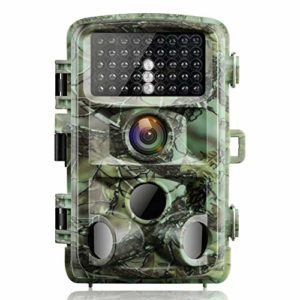 【2020 Upgrade】 Campark Trail Game Camera 16MP 1080P Night Vision Waterproof Hunting Scouting Cam for Wildlife Monitoring with 120°Detecting Range Motion Activated 2.4″ LCD IR LEDs 3 PIR
