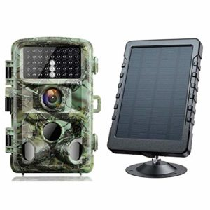 Campark Trail Game Camera 16MP 1080P Night Vision Waterproof Hunting Camera and Solar Panel Bundle