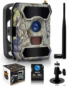 CreativeXP 3G Cellular Trail Cameras | AT&T WiFi Full HD Wild Game Camera with Night Vision for Deer Hunting, Security | Wireless Waterproof and Motion Activated | Tree Mount and Accessories Included