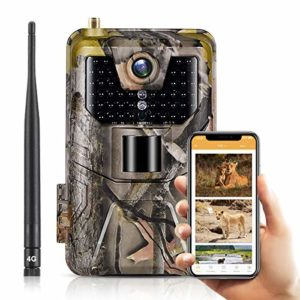 SUNTEKCAM LTE 4G Cellular Trail Cameras 20MP 1080 HP Wireless Camera for Wildlife Monitoring with 120°Detecting Range Motion Activated Night Vision Waterproof – 16GB SD Card and Card Reader